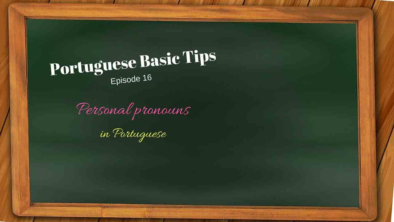 Portuguese personal pronouns
