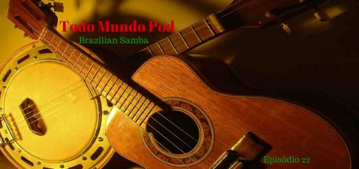 Brazilian samba. Image describing cavaquinho and banjo. Episode about Brasilian samba