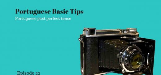 Picture showing an old camera. This podcast speaks about Portuguese past perfect tense