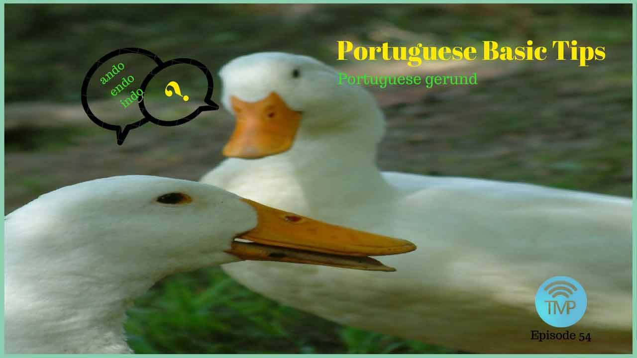 Learn the differences between gerund in Portuguese